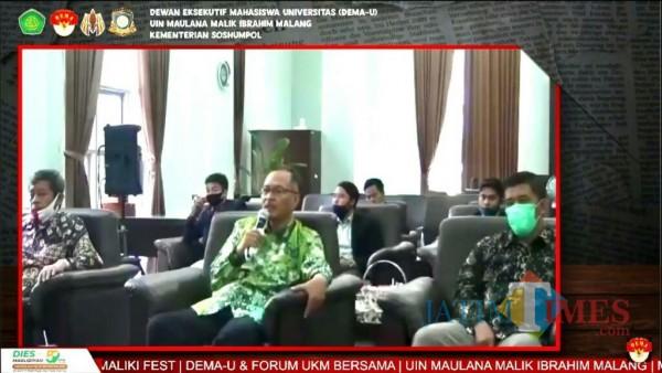 Rektor UIN Malang, Prof Dr Abdul Haris MAg. (Foto: YouTube DEMA UIN Maliki Malang)