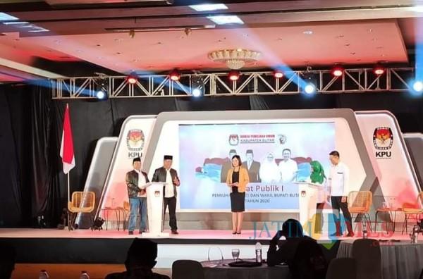 Debat Perdana Pilbup Blitar, Rijanto-Marhaenis Jadi Bintang