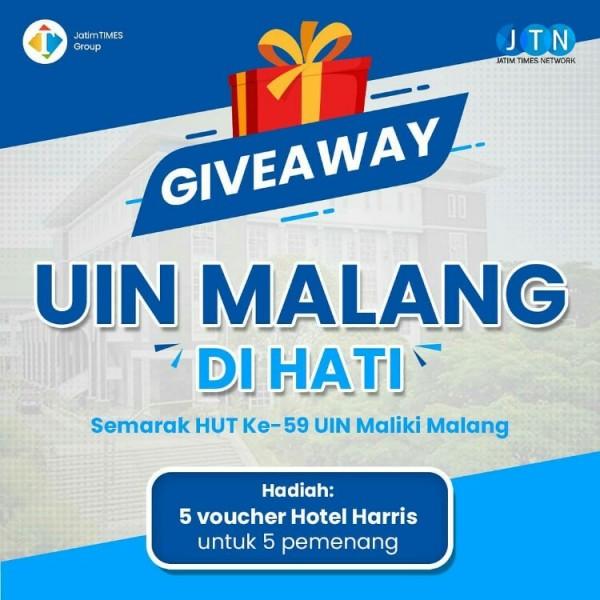 Giveaway Dies Maulidiyah UIN Maliki Malang. (Foto: MalangTIMES)