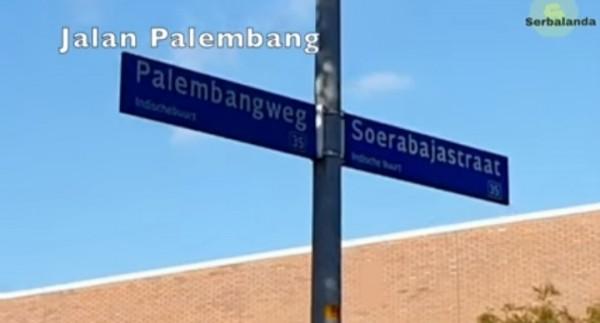 Salah satu penamaan jalan di Almere, Belanda. (Foto: screenshot YouTube Eka Tanjung).