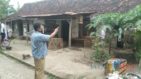 Salah satu contoh perumahan kumuh di Desa Mangunsari. (Joko Pramono/Jatim TIMES)