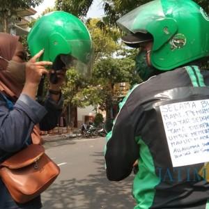 Sambut Maulid Nabi, Driver Ojol Tulungagung Tak Patok Tarif