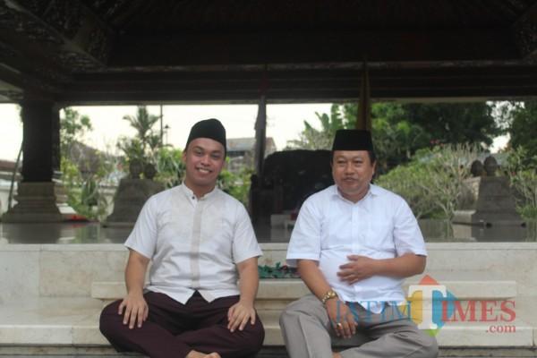 Henry Pradipta Anwar dan Yasin Hermanto.(Foto : Aunur Rofiq/BlitarTIMES)