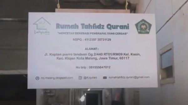 Rumah Tahfidz Al-Qur'an di Malang  (Foto: YouTube RESPECT (FKI))