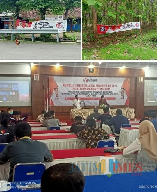 Masa Kampanye, Bawaslu Ngawi Larang Pemasangan APK di Pohon