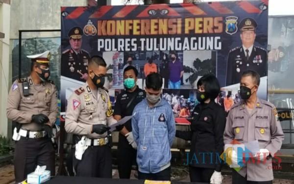 Rizal Fatoni, pemuda viral dengan aksi Bang Jago saat di Mapolres Tulungagung (Foto: Istimewa/ TulungagungTIMES)