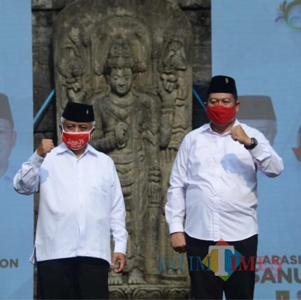 Calon Bupati Malang Sanusi (kiri) dan Calon Wakil Bupati Malang Didik Gatot Subroto (kanan) dari paslon SanDi nomor urut 1 (Foto : Istimewa)