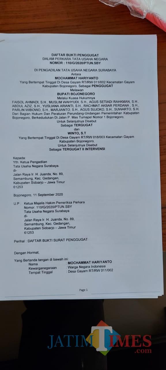 Dugaan Kecurangan Pilkades Gayam, Cakades 01 Gugat ke PTUN Surabaya