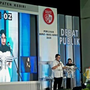 Hanya Satu Paslon, KPU Kabupaten Kediri Tetap Gelar Debat Publik