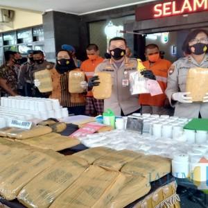 Tiga Kurir Puluhan Kilogram Ganja di Kota Malang Dibekuk Polisi