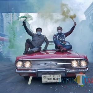 Drifter International Akbar Rais dan Denny Ferdito Tunjukkan Aksinya di Man On Fire Show