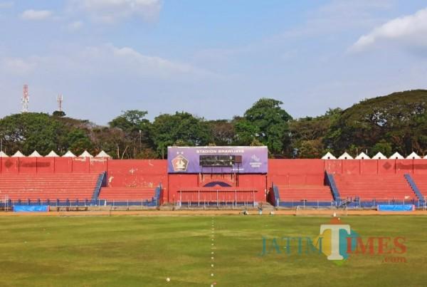 Stadion Brawijaya, tempat berlatih tim Persik Kediri. (Eko arif.s/Jatimtimes)