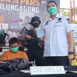 Polres Tulungagung Tangkap Komplotan Pencuri Kempes Ban Lintas Kota