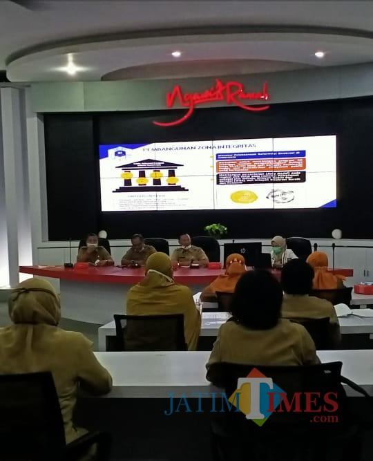 Evaluasi dari pembangunan zona integritas yang telah dilaksanakan di Kabupaten Ngawi. (Foto: Dokumen JatimTIMES)