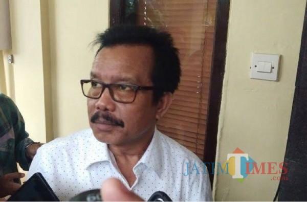 Pengusaha sekaligus tokoh masyarakat Kecamatan Dampit H Zaini saat menyampaikan alasannya mendukung paslon Ladub. (Foto : Dokumen Malang Bangkit)