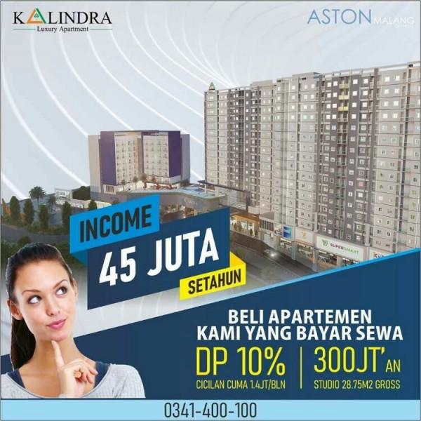 Mulai 300 Juta-an Bisa Nikmati Fasilitas Hotel Berbintang di Apartemen The Kalindra Malang