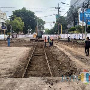 Temuan Rel di Tengah Proyek Pembangunan Kayutangan Heritage, Sutiaji: Tak akan Diubah