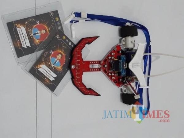 Robot E-Flash mahasiswa ITN Malang yang meraih best design di ajang Jember Line Tracer X 2020 (JLT X). (Foto: istimewa)