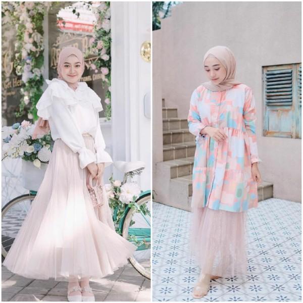 Gaya para hijabers dengan outfit style rok tutu. (Foto: Source Instagram).