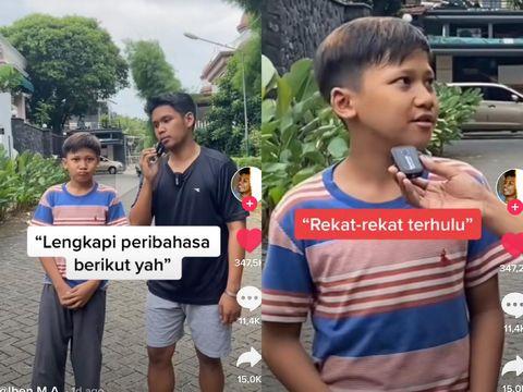 """Viral di TikTok, Gen Z Tak Tahu Peribahasa, Giliran Tarik Sis Langsung Jawab """"Semongko"""""""