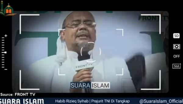 Habib Rizieq Shihab (Foto: YouTube SUARA ISLAM)
