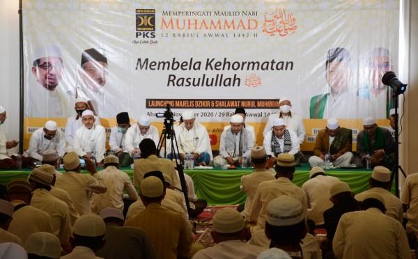 Acara peringatan Maulid Nabi Muhammad SAW yang digelar DPD PKS Kota Malang. (Foto Istimewa).