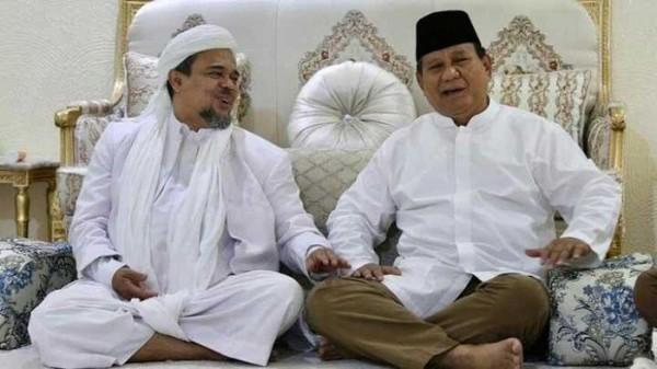 Habib Rizieq dan Prabowo (Foto: Pikiran rakyat)
