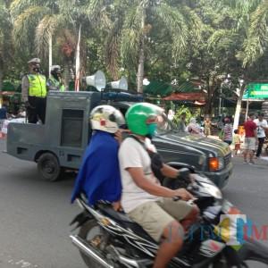 Polres Bondowoso Patroli Disiplin 3M di Keramaian