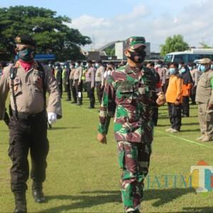 Antisipasi Cuaca Ekstrem, BPBD Kediri Bersama TNI dan Polri Gelar Apel Tanggap Bencana