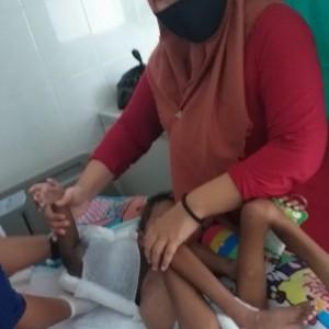 Alhamdulillah, Bocah 5 Tahun Penderita Tumor Tulang Asal Madiun Kembali Jalani Perawatan