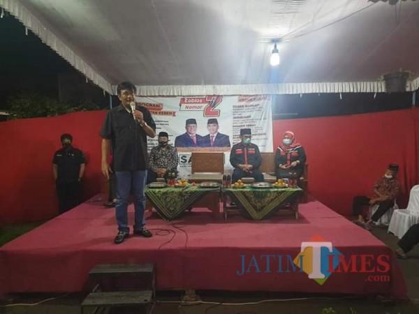 Djarot saat konsolidasi bertemu masyarakat di Kota Blitar. (Foto: Dokumen JatimTIMES)