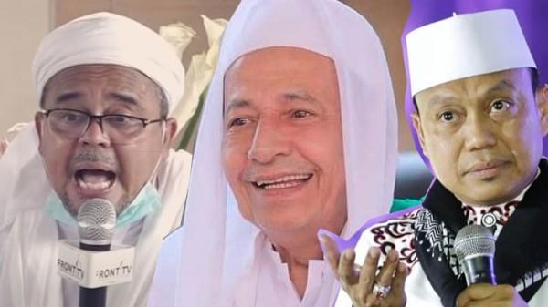 Habib Rizieq, Habib Luthfi dan Ustaz Das'ad Latif (Foto: IST)