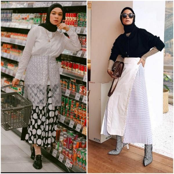 Monokrom style tak biasa ala Tantri Namirah. (Foto: Instagram @tantrinamirah).
