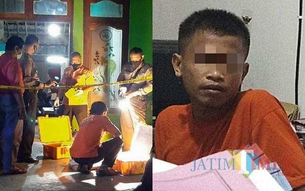 Budi Santoso, tesangka pelaku pembunuhan yang masih tetangga korban / Foto : Dokpol / Tulungagung TIMES