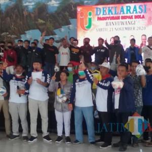 Paslon Mas Yusuf- Gus Riza Dapat Dukungan Paguyuban Sepakbola Banyuwangi