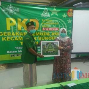 Semangati Kader Ansor, Ketua Fatayat NU Lumajang Ning Laila Siap Kolaborasi