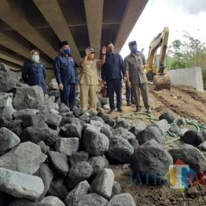 Plengsengan Jembatan Kedungkandang Ambrol, Dewan Lakukan Sidak