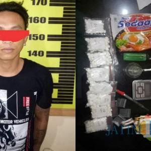 Simpan Sabu dan Ratusan Pil Dobel L, Warga Wates Campurdarat Ditangkap Polisi
