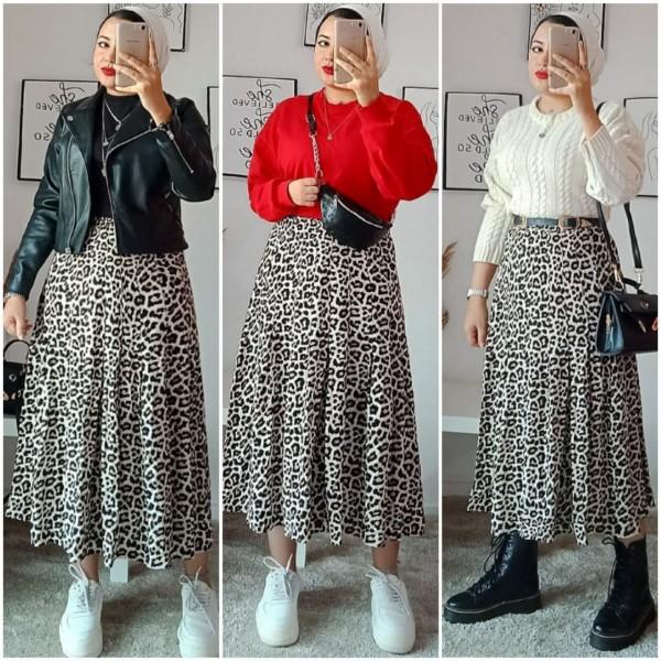 Buat 3 Look Berbeda Hanya dengan 1 Jenis Skirt Leopard ala Influencer Hajar Gamal