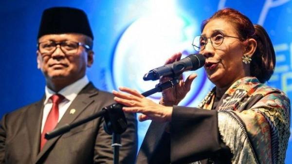Edhy Prabowo dan Susi Pudjiastuti (Foto: Tribunnews)