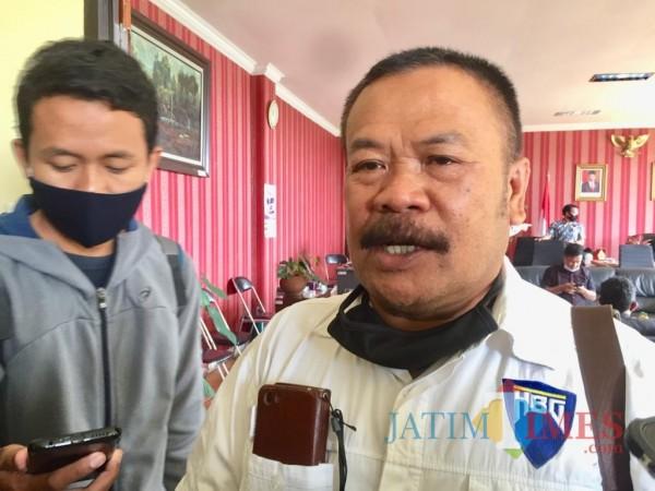 Ketua SPSI Kota Batu, Purtomo. (Foto: Irsya Richa/MalangTIMES)
