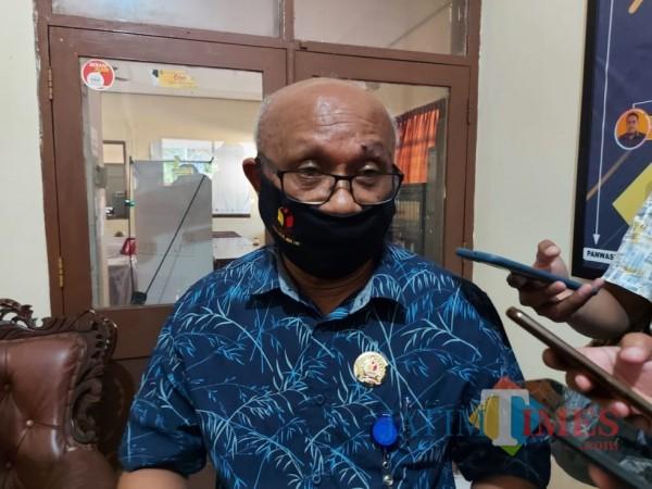 Koordinator Penanganan Pelanggaran Bawaslu Kabupaten Malang, George da Silva saat ditemui di Kantor Bawaslu Kabupaten Malang. (Foto: Dok. JatimTimes)