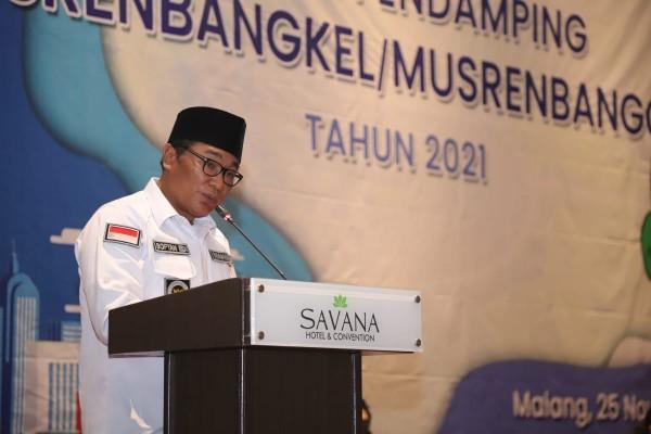 Wakil Walikota Malang, Sofyan Edi Jarwoko saat membuka Bimtek Tenaga Pendamping (Humas Pemkot Malang).