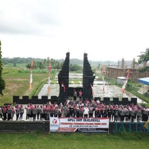 Komitmen Laksanakan Tugas, Srikandi Pengawas Blitar Deklarasi di Lapangan Kenanga