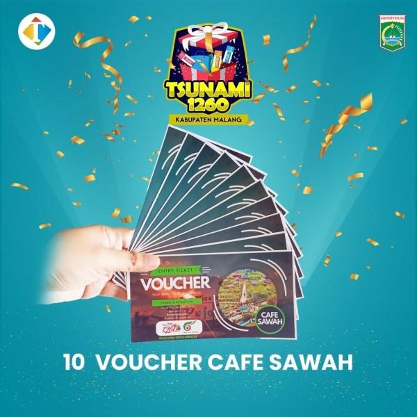 """Ingin Voucher Kuliner di Cafe Sawah? Yuk Ikuti Giveaway """"Tsunami 1.260"""" Kabupaten Malang"""