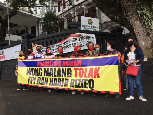 Aliansi Jogo Malang yang menolak FPI dan Rizieq Shihab (Ist)