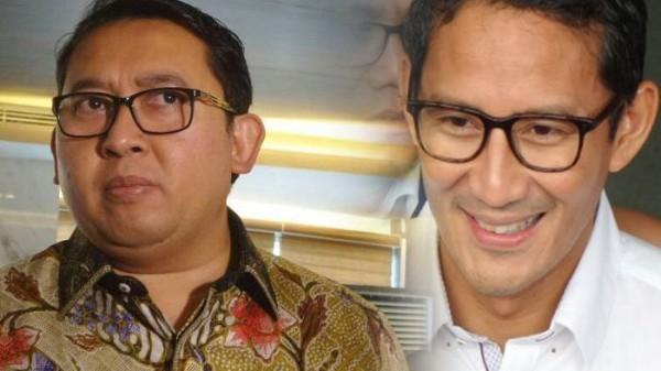 Fadli Zon & Sandiaga Uno (Foto: Tribunnews)