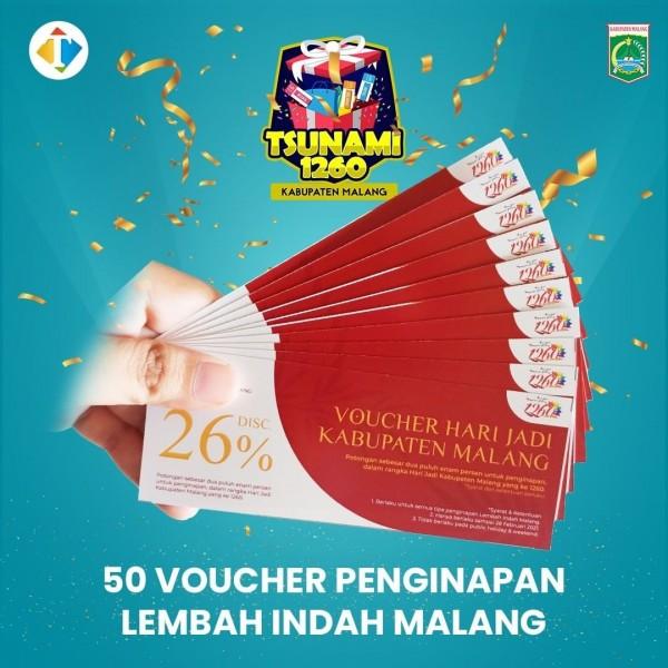 Gratis 50 Voucher Menginap di Lembah Indah Malang, Yuk Ikutan Tsunami 1.260 Kabupaten Malang