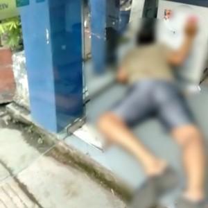 Beredar Video Pria Tewas di Bilik ATM, Diduga Serangan Jantung, Bukan Tersetrum