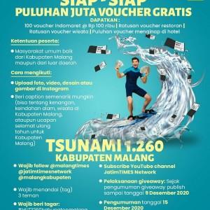 """HUT Kabupaten Malang, Netizen Makin Antusias Ikutan Giveaway """"Tsunami 1.260"""""""